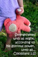 It is weakness, not strength, that binds us together and to God